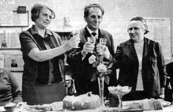 Килина Василівна Стукай (справа) з колегами.