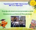 Портфоліо вчителя початкових класів Вишньовської Наталії Михайлівни