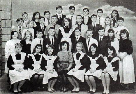 Кічук Марія Іванівна зі своїми дев'ятикласниками