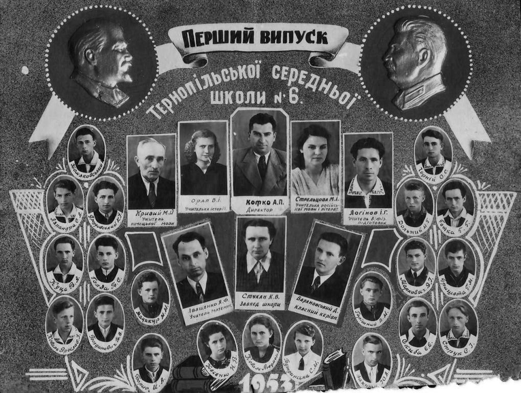 Перші випускники школи №6 м.Тернопіль